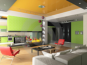 Modern Interior Stock Photos - Image: 8571273