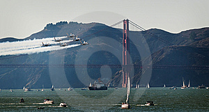 Blue Angel And Golden Gate Royalty Free Stock Photos - Image: 8571538