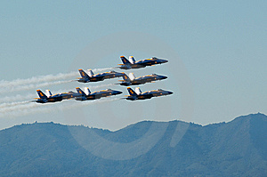 Blue Angel And Golden Gate Stock Photo - Image: 8571610