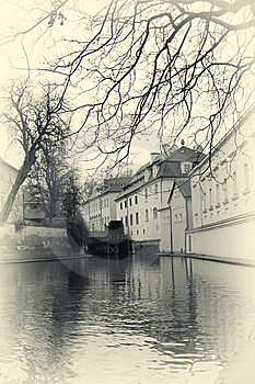 Water Mill In Prague Retro Photo Stock Image - Image: 8571971