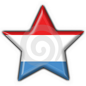 Button Flag Luxembourg Shape Star Arkivbild - Bild: 8572002