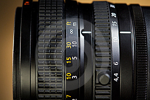 Close Up Of Professional Lens Royalty Free Stock Image - Image: 8572266