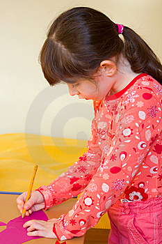 Girl Drawing Stock Images - Image: 8572764