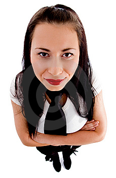 High Angle View Of Fashionable Female Model Stock Photography - Image: 8573312