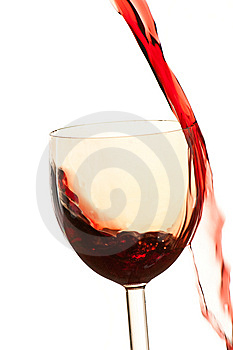 Pour The Wine Into The Glass On A White Background Stock Photo - Image: 8573410