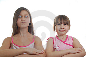 Two Young Girls Royalty Free Stock Image - Image: 8573756