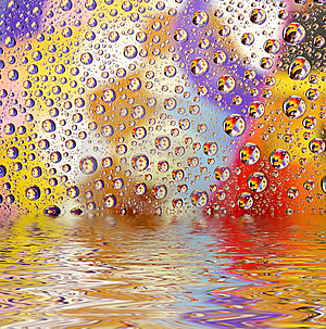 Coloured Water Drops Stock Photo - Image: 8574170