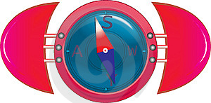Kompas Obraz Stock - Obraz: 8574411