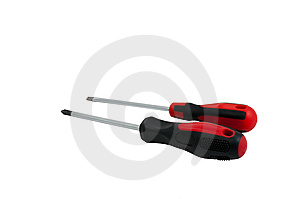 Screwdrivers Isolated Stock Image - Image: 8575181