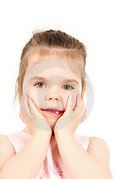 Little Girl And Her Beautiful Grimace Royalty Free Stock Photo - Image: 8575745