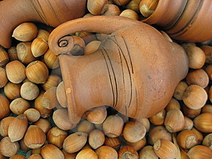 Old Crock And Nuts Stock Photography - Image: 8576572