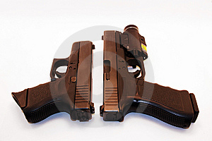Comparaison De Pistolet Photos stock - Image: 8576623