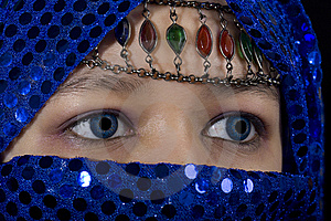Blue Eyes Orient Stock Images - Image: 8577384