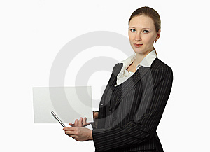 Young Beautiful Businesswoman Stock Photography - Image: 8578382