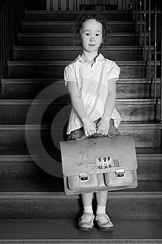 Little Girl On The Stairs Royalty Free Stock Photography - Image: 8578707