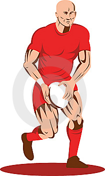 Rugby Player Running With Ball Stock Photos - Image: 8579413