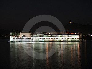Udaipur Lake Palace At Night Royalty Free Stock Image - Image: 8579666