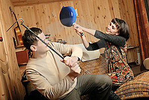 Young Man In Conflict With Woman Stock Photography - Image: 8580442
