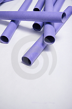 Empty Plotter Rolls Royalty Free Stock Photography - Image: 8580547