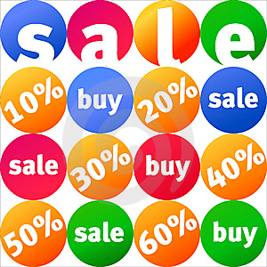 Sale Illustration Stock Photo - Image: 8580550