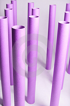 Empty Plotter Rolls Royalty Free Stock Photos - Image: 8580698