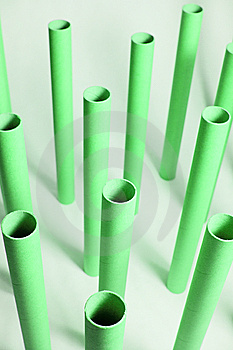 Empty Plotter Rolls Stock Photos - Image: 8580723