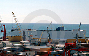 Commercial Port, Salerno Stock Images - Image: 8580884