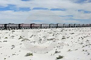 Iron Ore Train In The Sahara, Mauritania Royalty Free Stock Photography - Image: 8581197