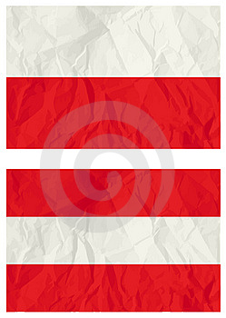 Poland And Austria Flags Stock Photography - Image: 8581262