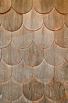 Wooden Shingle Wall Stock Photography - Image: 8581562
