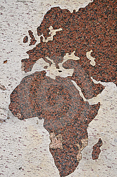 Eastern Hemisphere Map Stock Images - Image: 8581704