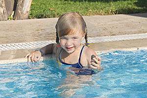 Girl In The Swimming-pool Royalty Free Stock Photos - Image: 8581788
