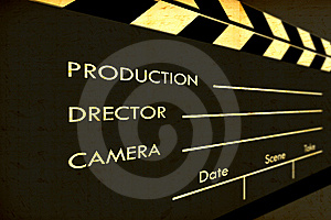 Old Film Clapboard Royalty Free Stock Photo - Image: 8583015