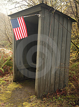 School Bus Shelter With American Flag Royalty Free Stock Photos - Image: 8583418