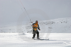 Kite Skiing Stock Image - Image: 8584361
