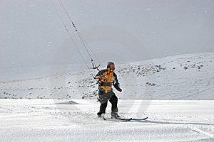 Kite Skiing Stock Image - Image: 8584361