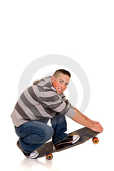 Handsome Smiling Skaterboy Royalty Free Stock Photography - Image: 8584577