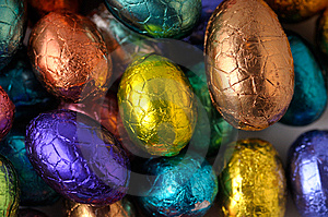 Wrapped Easter-eggs Royalty Free Stock Images - Image: 8584759