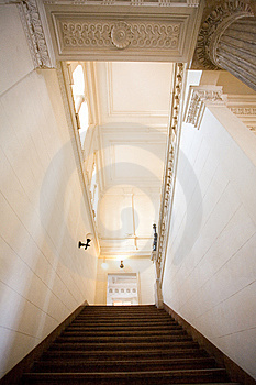 Staircase, Very Wide Perspective Royalty Free Stock Image - Image: 8585166