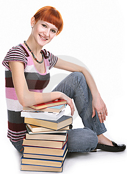 Beauty Student Girl With Book Stock Images - Image: 8585284
