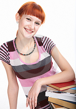 Beauty Student Girl With Book Royalty Free Stock Photography - Image: 8585357