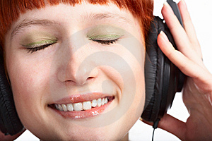Beauty Girl In Head Phones Stock Photography - Image: 8585362