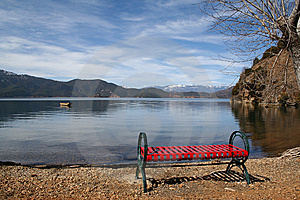 Lake Or Bench Stock Photos - Image: 8586053