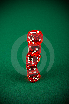 Tower Of Red Dice Stock Image - Image: 8586611
