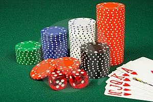 As Microplaquetas, Cortam E Cartões Imagem de Stock Royalty Free - Imagem: 8586626