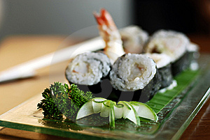 Sushi And Prawns Stock Photo - Image: 8586720