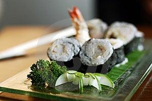 Sushi And Prawns Stock Photo - Image: 8586720