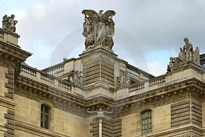Sculptures On Roof Royalty Free Stock Photography - Image: 8586967