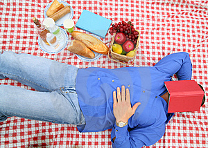 Sleeping In Picnic Royalty Free Stock Images - Image: 8588579