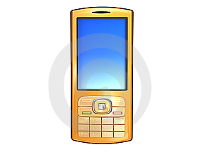 Golden Mobile Phone Royalty Free Stock Photo - Image: 8588585